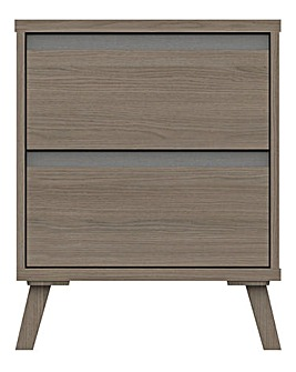 Alba Assembled 2 Drawer Bedside Table