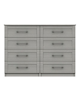 Warwick Assembled 4 plus 4 Drawer Chest