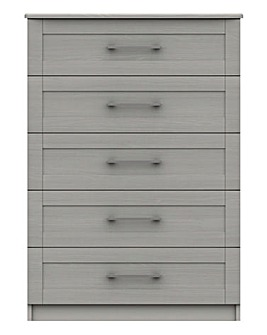 Warwick Assembled 5 Drawer Wide Chest