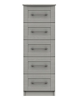 Warwick Assembled 5 Drawer Tallboy Chest