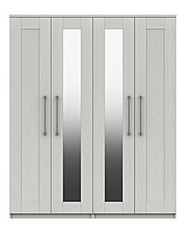 Warwick 4 Door Wardrobe with Mirror
