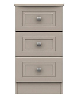 Harpenden Assembled 3 Drawer Bedside Table
