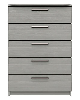 Newport Assembled 5 Drawer Wide Chest
