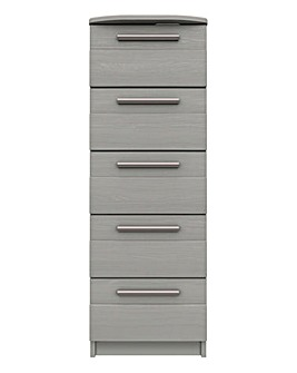 Newport Assembled 5 Drawer Tallboy Chest