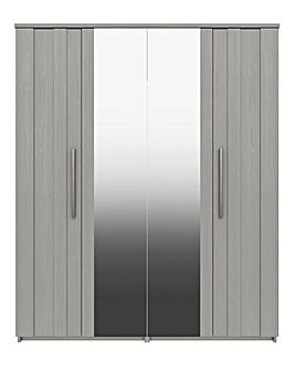 Newport 4 Door Wardrobe with Mirror