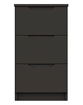 Sorrento High Gloss Assembled 3 Drawer Bedside Table