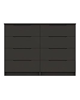 Sorrento High Gloss Assembled 4 plus 4 Drawer Chest