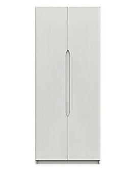 Sorrento Gloss Assembled 2 Door Wardrobe