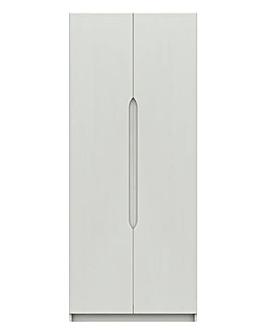 Sorrento High Gloss Assembled 2 Door Wardrobe