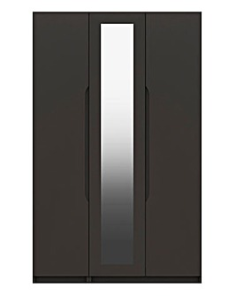 Sorrento Gloss 3 Door Mirrored Wardrobe