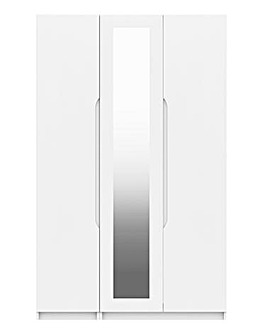 Sorrento Gloss 3 Door Mirrored Wardrobe