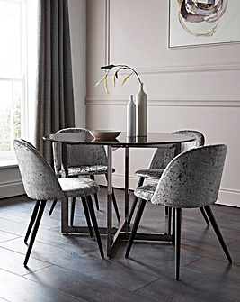 Orion Table & 4 Palazzo Dining Chairs