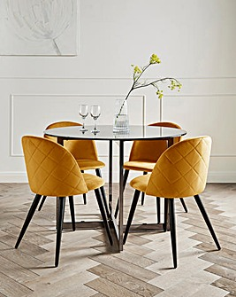 Orion Dining Table & 4 Klara Chairs