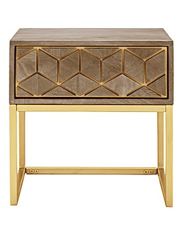 Zahara Assembled Mango Side Table