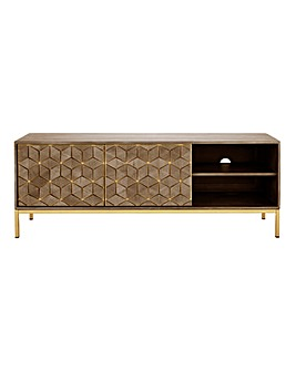 Zahara Assembled Mango Wide TV Unit