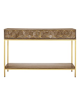 Zahara Assembled Mango Console Table