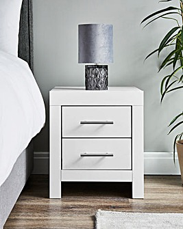 Dakota 2 Drawer Bedside Table