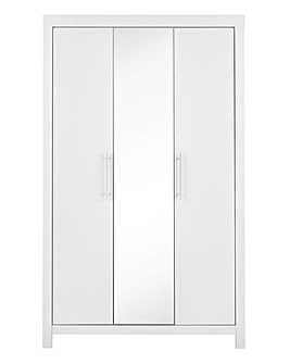 Dakota 3 Door Mirrored Wardrobe