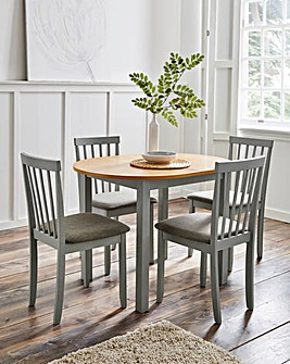 Salcombe Extending Dining Table with 4 Chairs
