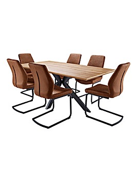 Austin Table and 6 Houston Chairs