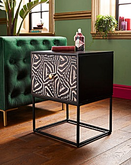 Joe Browns Contemporary Zebra Print Side Table