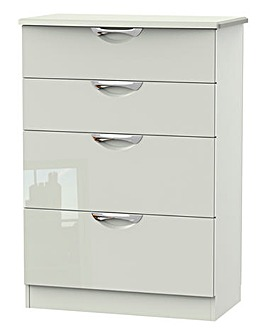 Milano Assembled Gloss 4 Drawer Chest