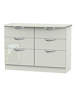 Milano Assembled Gloss 6 Drawer Chest