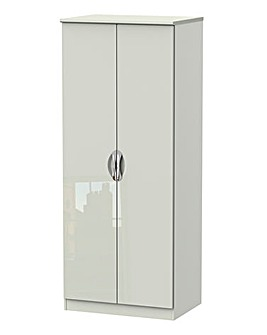 Milano Assembled Gloss 2 Door Wardrobe