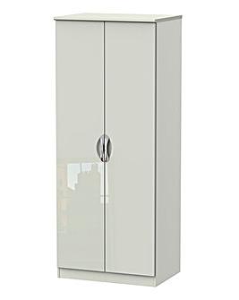 Milano Assembled High Gloss 2 Door Wardrobe