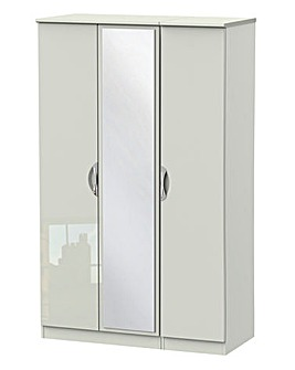 Milano Assembled Gloss 3 Door Wardrobe
