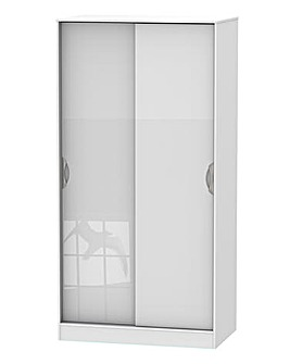 Milano Assembled High Gloss Sliding Wardrobe