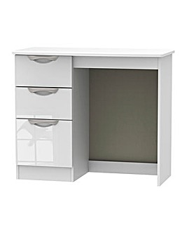 Milano Assembled High Gloss Dressing Table/Desk