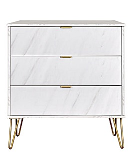 Monaco Assembled 3 Drawer Chest