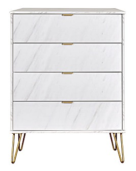 Monaco Assembled 4 Drawer Chest