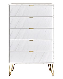 Monaco Assembled 5 Drawer Chest