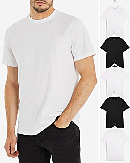 Pack of Five Crew Neck T-Shirts