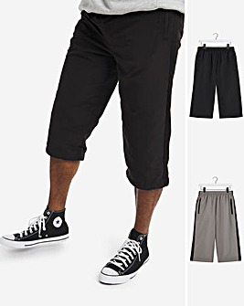 Pack of Two 3/4 Woven Joggers