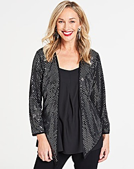 Diamond Metallic Edge to Edge Jacket