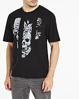Spliced Floral Sublimation T-Shirt