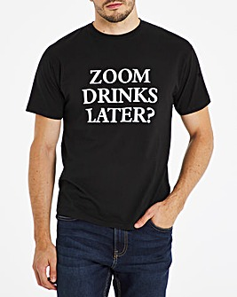 Zoom Drinks Graphic T-Shirt