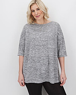 Grey Marl Soft Touch T Shirt with Pocket