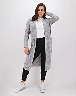 Grey Marl Soft Touch Cardigan