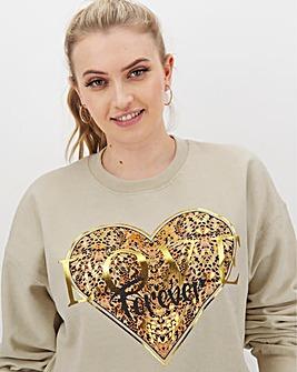 Heart Leopard Sweatshirt