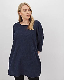 Navy Soft Touch Side Pocket Tunic