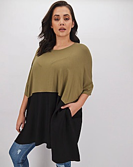 Hanky Hem Colour Block Tunic