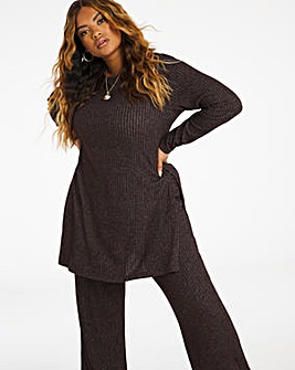Cocoa Supersoft Ribbed Tunic