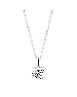 Sterling Silver 925 Cubic Zirconia Pendant Necklace