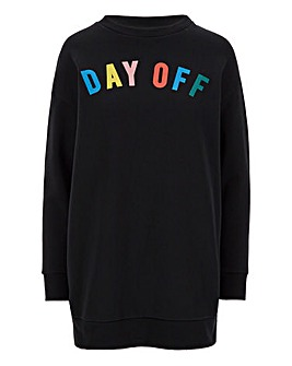 Day Off Printed Sweatshirt