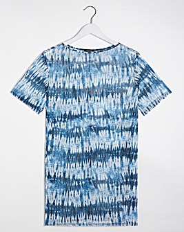 Mesh Tie Dye Split Side Tunic