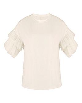 Ruffle Sleeve T Shirt